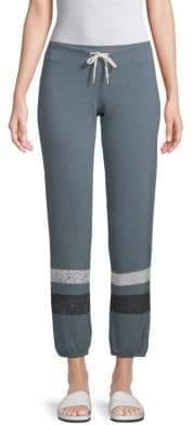 Monrow Striped Drawstring Pants