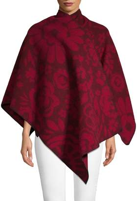 Burberry Classic Floral Poncho