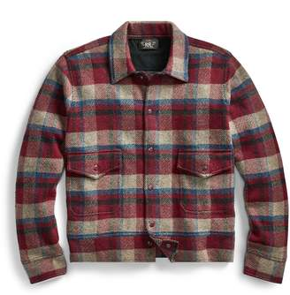 Ralph Lauren Plaid Wool-Cashmere Jacket