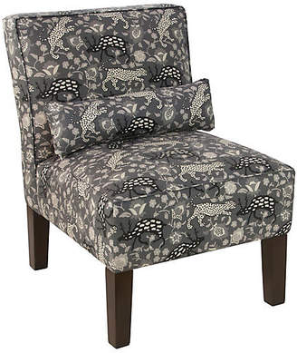 One Kings Lane Bergman Armless Accent Chair - Charcoal
