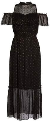 NSR Lace Cold Shoulder Midi Dress