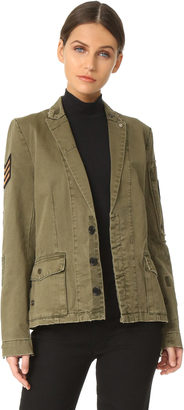 Zadig & Voltaire Virginia Grunge Army Jacket $398 thestylecure.com