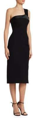 Victoria Beckham One-Shoulder Midi Sheath Dress