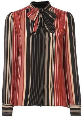 Giambattista Valli pussy bow striped blouse
