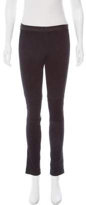 Andrew Marc Contrast Leather Leggings