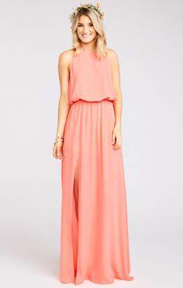 f6538ecc722 Show Me Your Mumu Heather Halter Dress ~ Bright Coral Crisp