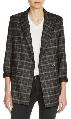 Maje Plaid Blazer