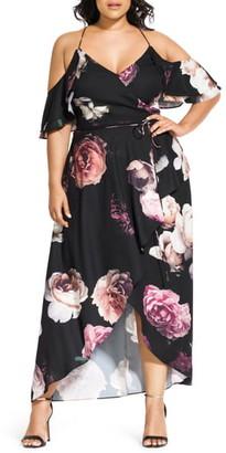 City Chic Grandi Flora Maxi Dress