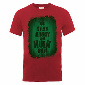 Marvel Avengers Assemble Hulk Stay Angry T-Shirt - Red
