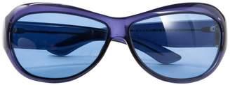 Saint Laurent Purple Plastic Sunglasses