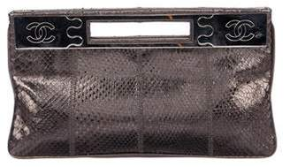 Chanel Metallic Python Clutch