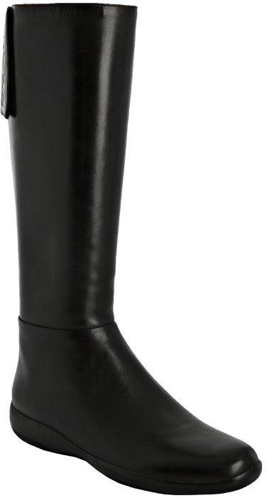 Prada Sport black nappa leather flat boots