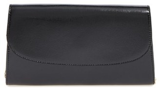 Halogen Leather Clutch - Black $79 thestylecure.com