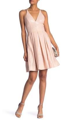 Dress the Population Colette V-Neck Sequined Mini Dress