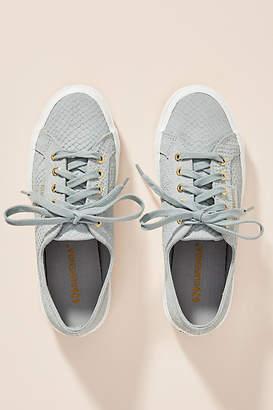 Superga Monotone Snake-Printed Sneakers