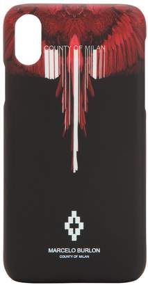 Marcelo Burlon County of Milan Wings Barcode Printed Iphone X Case