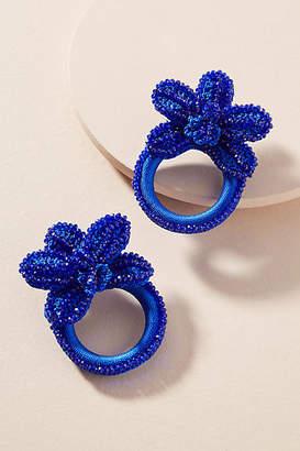 Tina Botero Clavelina Flower Hooped Post Earrings