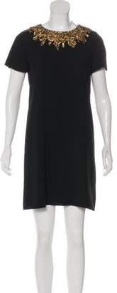 Alice + Olivia Embellished Mini Shift Dress