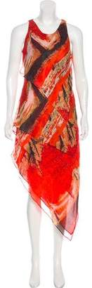 Robert Rodriguez Silk Asymmetrical Dress w/ Tags