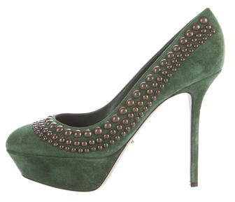 Sergio Rossi Sergio Rossi Suede Embellished Pumps