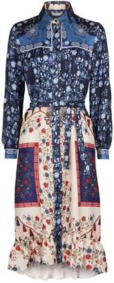 Sandro Silk Scarf Shirt Dress