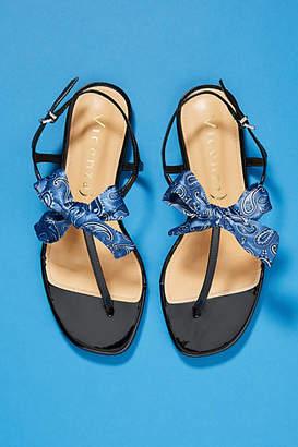 Vicenza Bandana Bow Thong Sandals