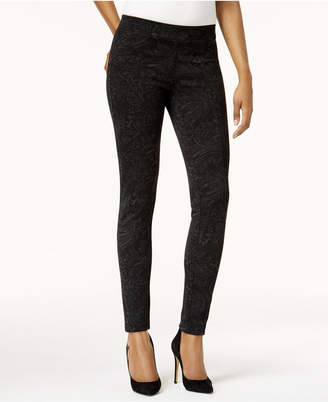 Style&Co. Style & Co Petite Printed Seam-Front Leggings