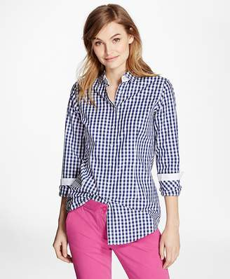 Gingham Cotton Poplin Blouse $58 thestylecure.com