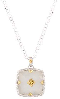 Jude Frances Moonstone & Diamond Pendant Necklace