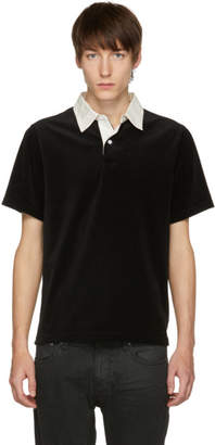Saturdays NYC Black and White Jake Velour Polo