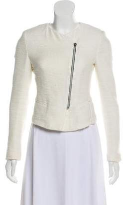 L'Agence Collarless Knit Jacket