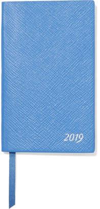 Smythson Panama 2019 Textured-leather Diary - Blue