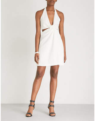 Galvan Eclipse cutout jersey and crepe mini dress