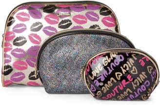Juicy Couture 3-Piece Dome Cosmetic Pouch Set