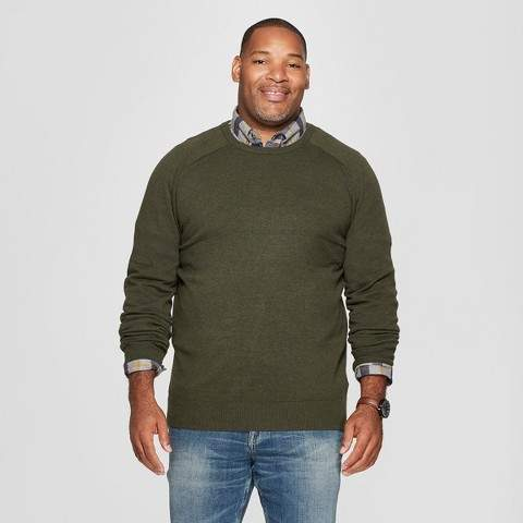 Goodfellow & Co Men's Big & Tall Crew Neck Sweater - Goodfellow & Co Olive Heather