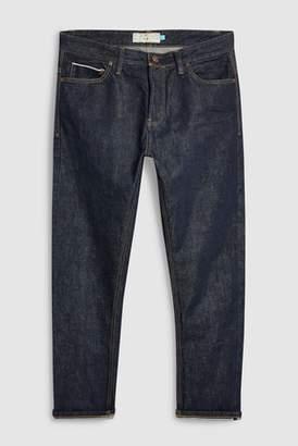 Next Mens Green Wash Slim Fit Selvedge Jeans
