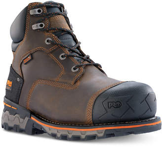 """Timberland Boondock-Men 6"""" Composite Safety Toe Waterproof Work Boot with Heavy Duty Rubber Cap Toe Men Shoes"""