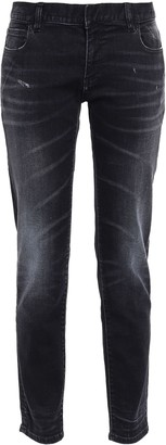 Faith Connexion Distressed Faded Slim-leg Pants