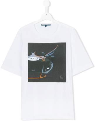 Aston Martin Kids abstract print T-shirt
