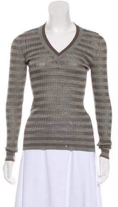 Dolce & Gabbana Striped Knit Top