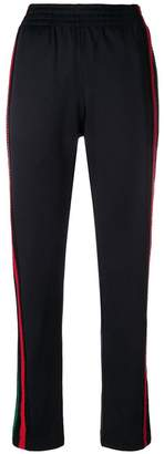 Wales Bonner side-stripe fitted trousers