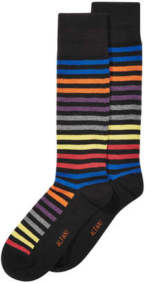 Alfani AlfaTech by Men's Striped Dress Socks, Created for Macy's