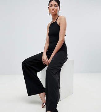 Missguided Tall Lace Up Back Jumpsuit