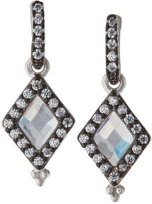 Freida Rothman Industrial Finish Diamond-Shaped Drop Earrings