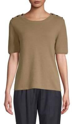 Max Mara Odessa Short-Sleeve Cashmere Sweater