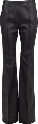Michael Kors Side Zip Stretch Leather Flare Pant