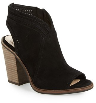 Women's Vince Camuto 'Koral' Perforated Open Toe Bootie $149.95 thestylecure.com
