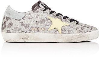 Golden Goose Women's Superstar Glitter Sneakers $495 thestylecure.com