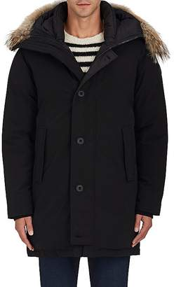 Moncler Men's Aurelien Fur-Trimmed Down Parka