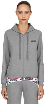 Moschino Logo Band Zip-Up Sweatshirt Hoodie